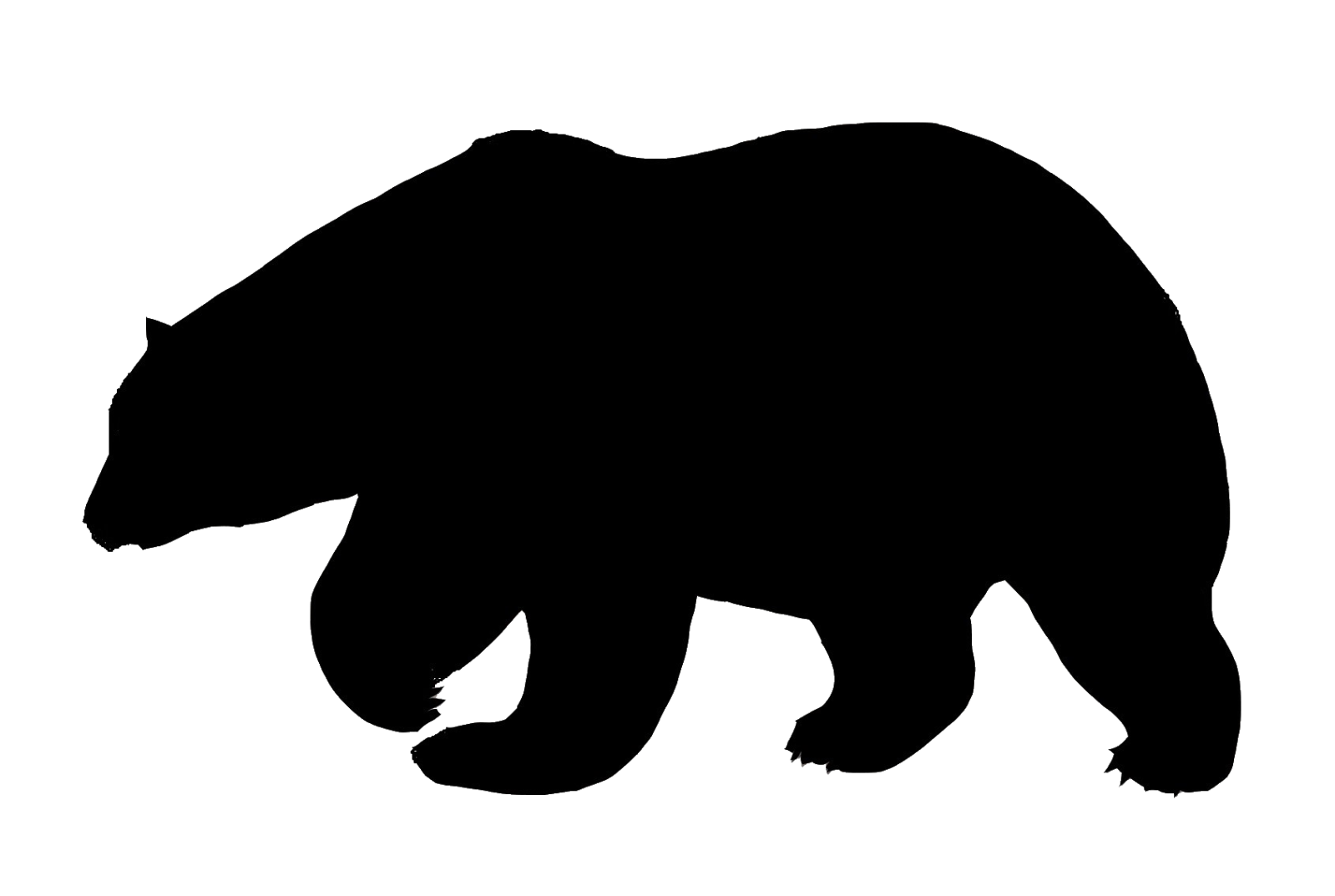 Black silhouette at getdrawings. Foot clipart polar bear