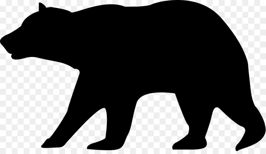 Png and white free. Bears clipart american black bear