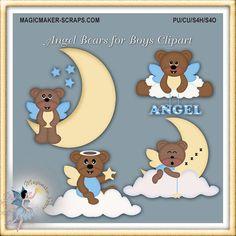 Bears clipart angel. Printable recipe cards teddy