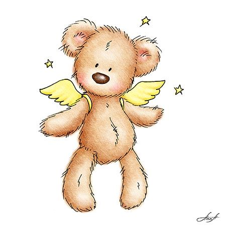 best whimsical angels. Bears clipart angel