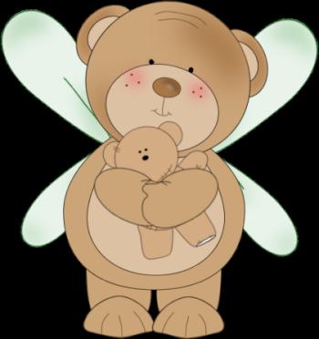 Clip art images bear. Bears clipart angel