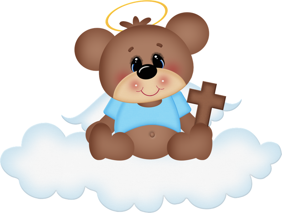 Bears clipart angel. Cloud bear cute clip