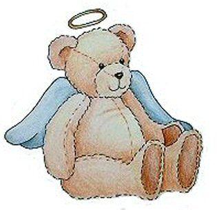 Blue teddy jpg won. Bears clipart angel