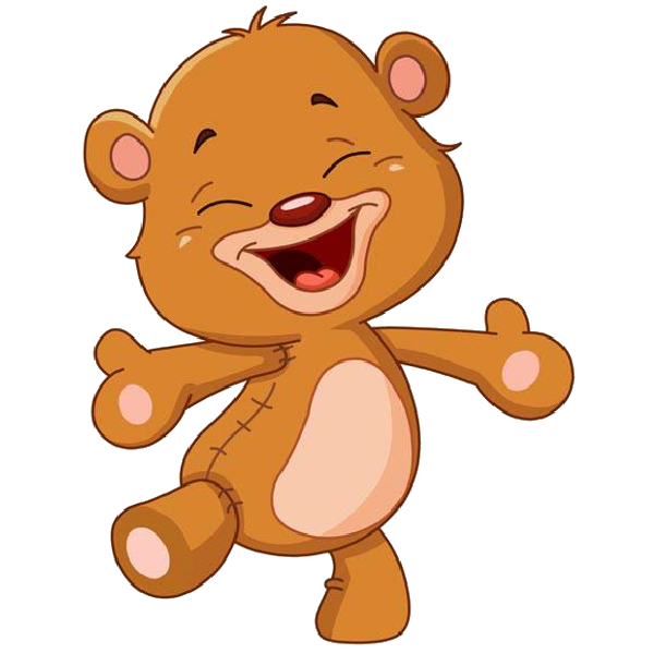 Surprise clipart frightened person. Cute cartoon bear