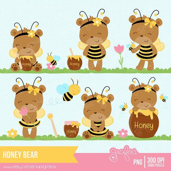 Honey digital teddy girl. Bears clipart baby bear