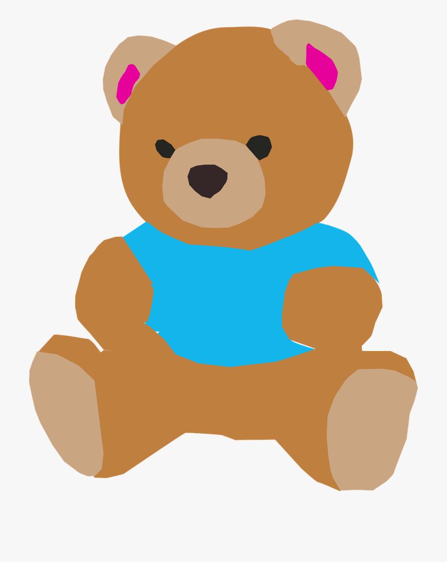 Doll animasi free . Bears clipart baby bear