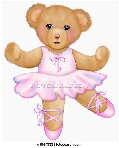 Of teddy bear cute. Bears clipart ballerina