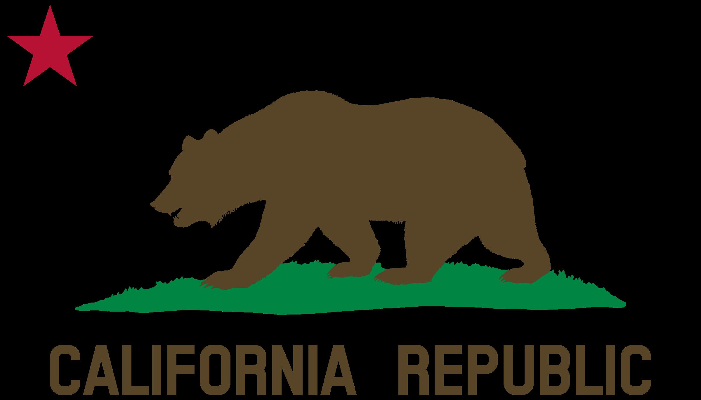 Flag of star plot. Bears clipart bear california