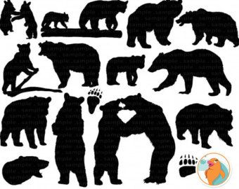 Brown outline google search. Bear clipart bear cub
