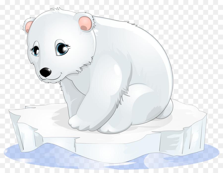 Polar cubs baby clip. Bears clipart bear cub