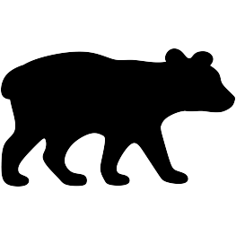Bears clipart bear cub. And silhouette at getdrawings