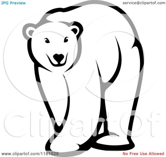 Bear black and white. Bears clipart beruang