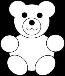 Bears clipart black and white. Teddy bear silhouette clip