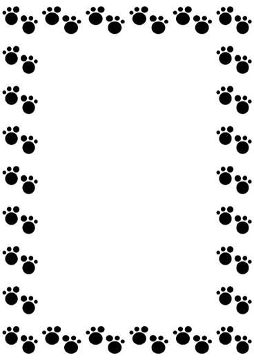 Bears clipart border. Paws frame frames and