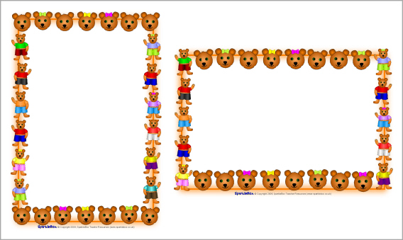 Bears clipart border.  collection of free