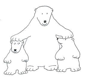 Polar bear clip art. Bears clipart border