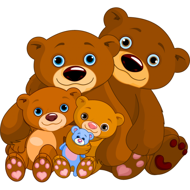 Bears clipart brother bear. Stickers family sticker children