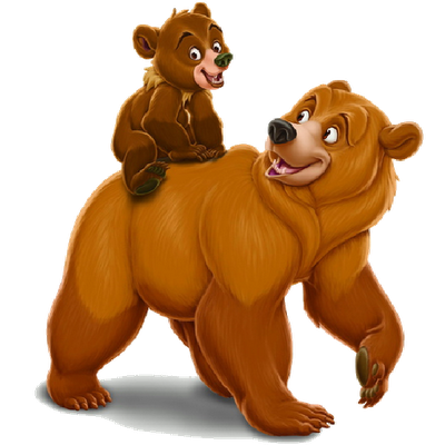 Mother and baby cartoon. Bears clipart brother bear