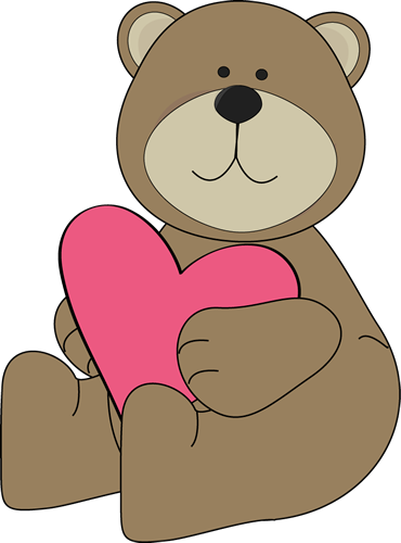 Bears clipart brown bear. Valentine s day clip