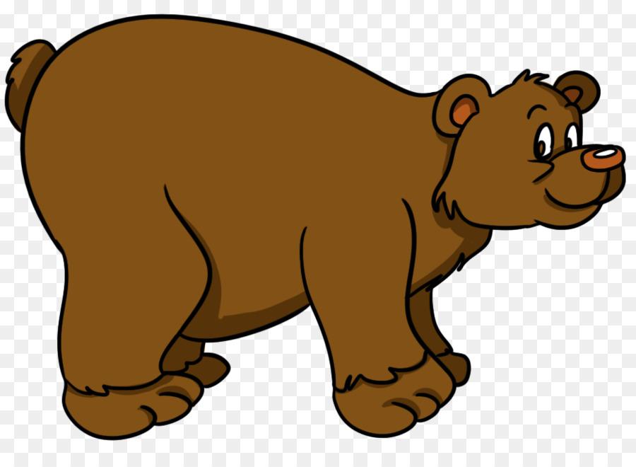 Goldilocks and the three. Bears clipart brown bear