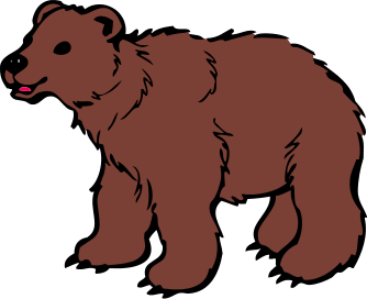 Bears clipart brown bear. Young animals b png