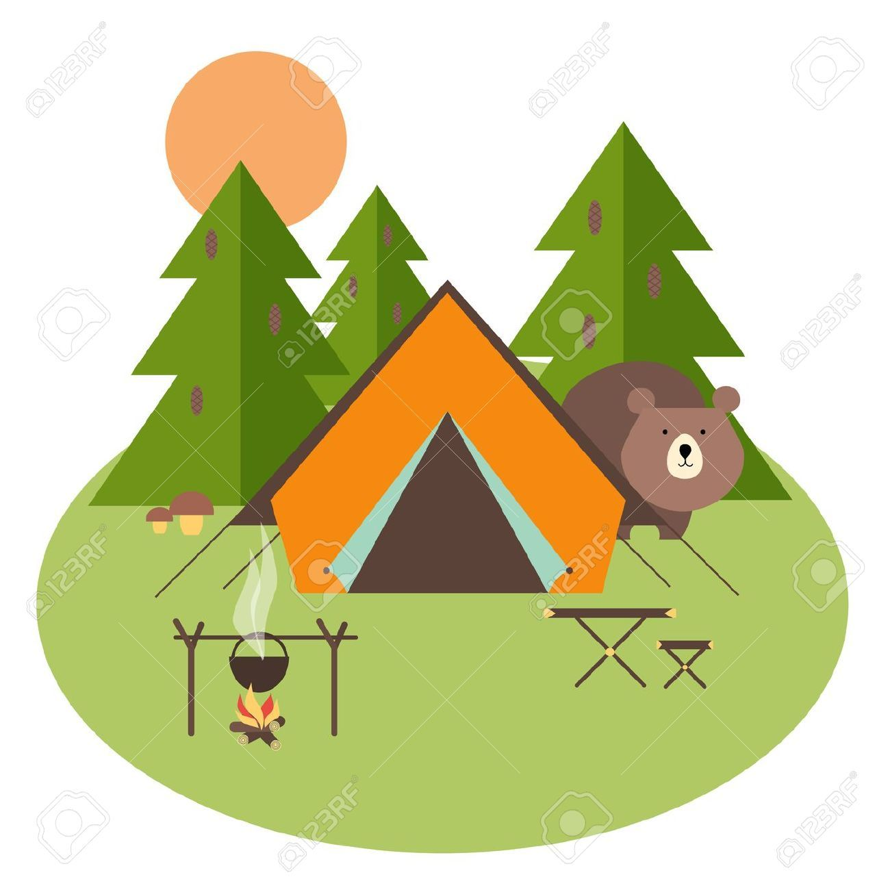 Bears clipart camping. Image result for room