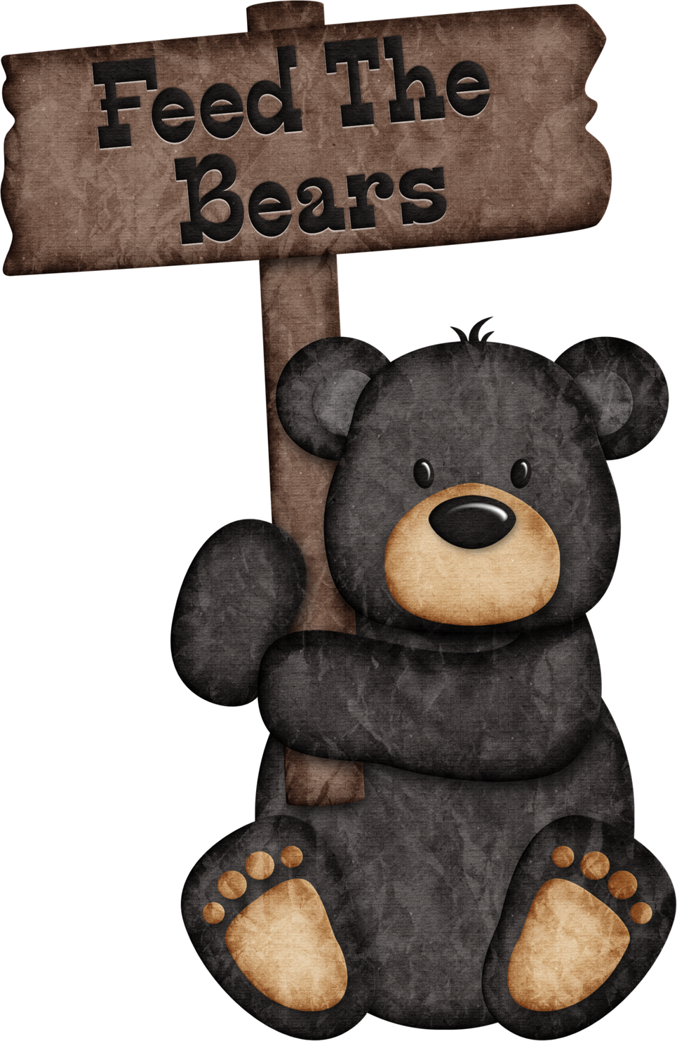 Feed the bears black. Woodland clipart woods animal