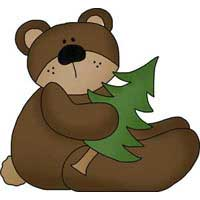 Clip art for scrapbooking. Bears clipart camping
