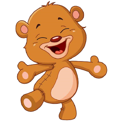 Cute baby grey animal. Bears clipart cartoon