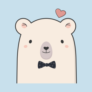 Polar bear t shirts. Bears clipart chibi