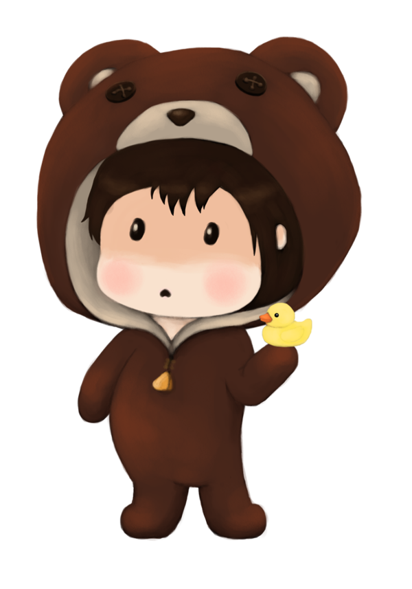 Bears clipart chibi. Bear costume by annefaizuani