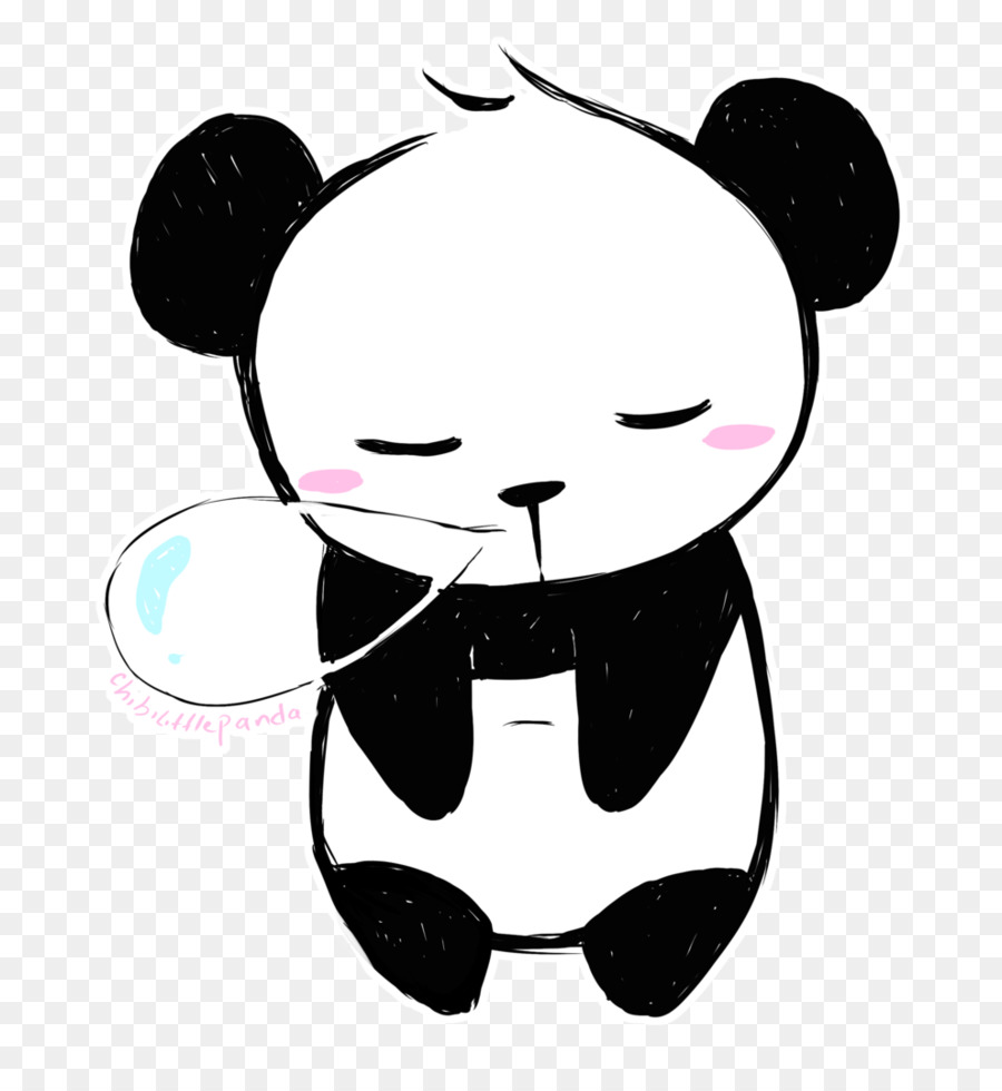 Bears clipart chibi. Giant panda bear drawing