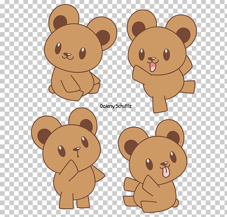 Bears clipart chibi. Teddy bear brown painting