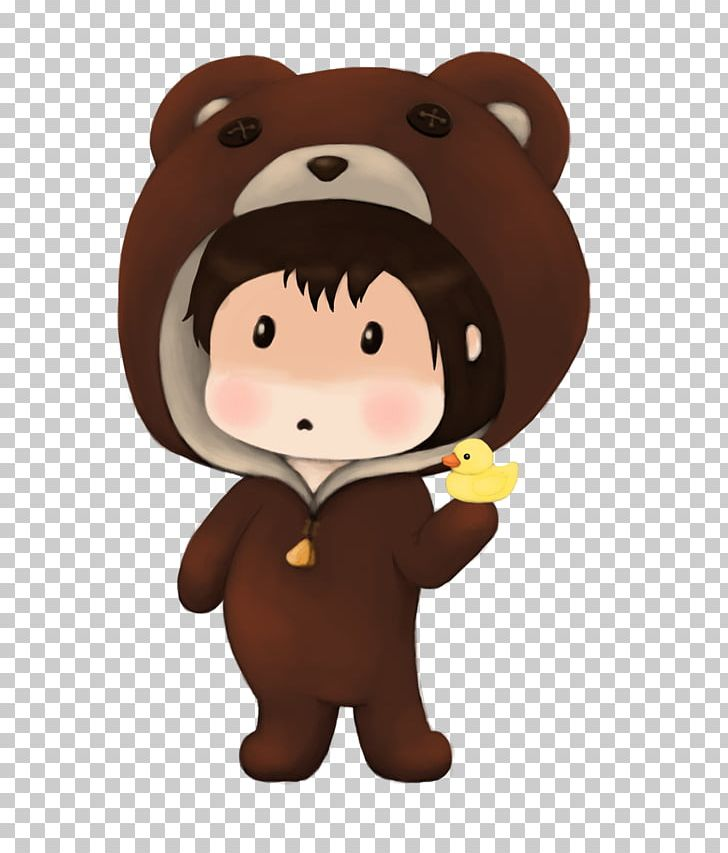 American black bear grizzly. Bears clipart chibi