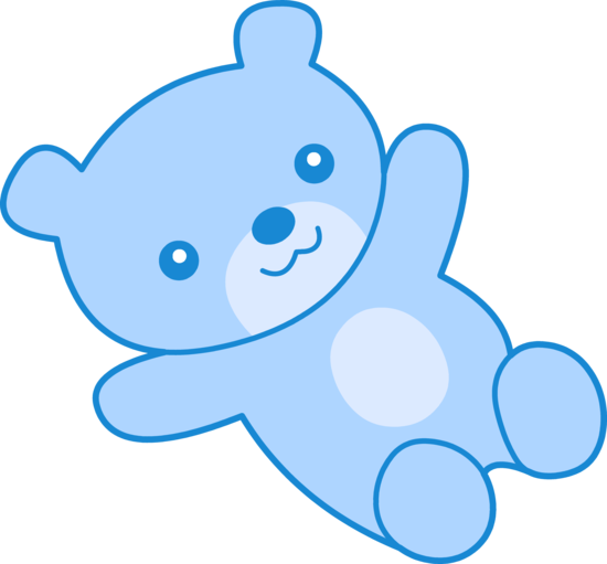 Cute blue teddy bear. Bears clipart clip art