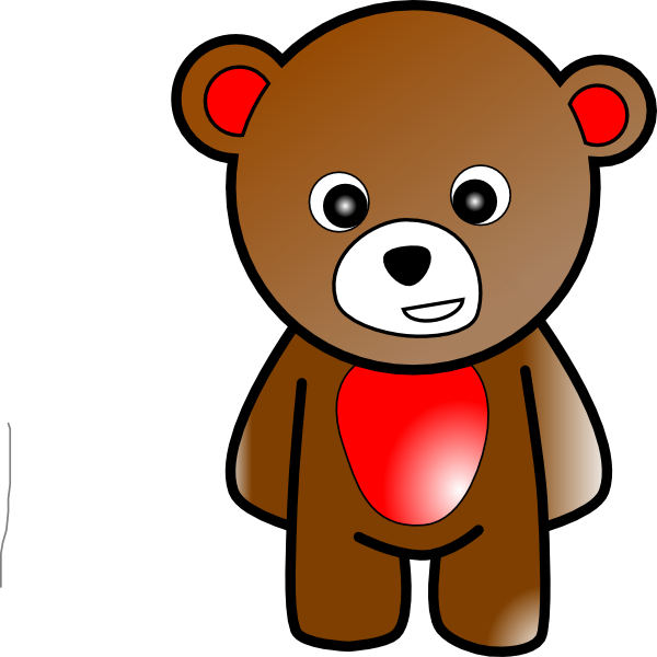 Pawprint clipart teddy bear. Silhouette at getdrawings com