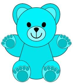 Bears clipart colored. Pin on clip art