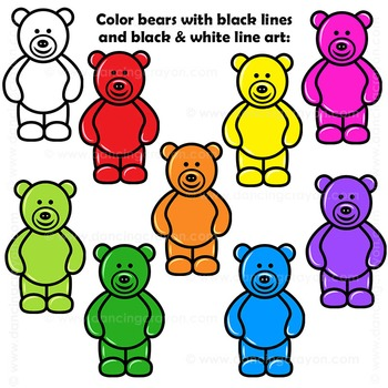 Clip art candy . Bears clipart counting