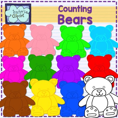 Bears clipart counting.