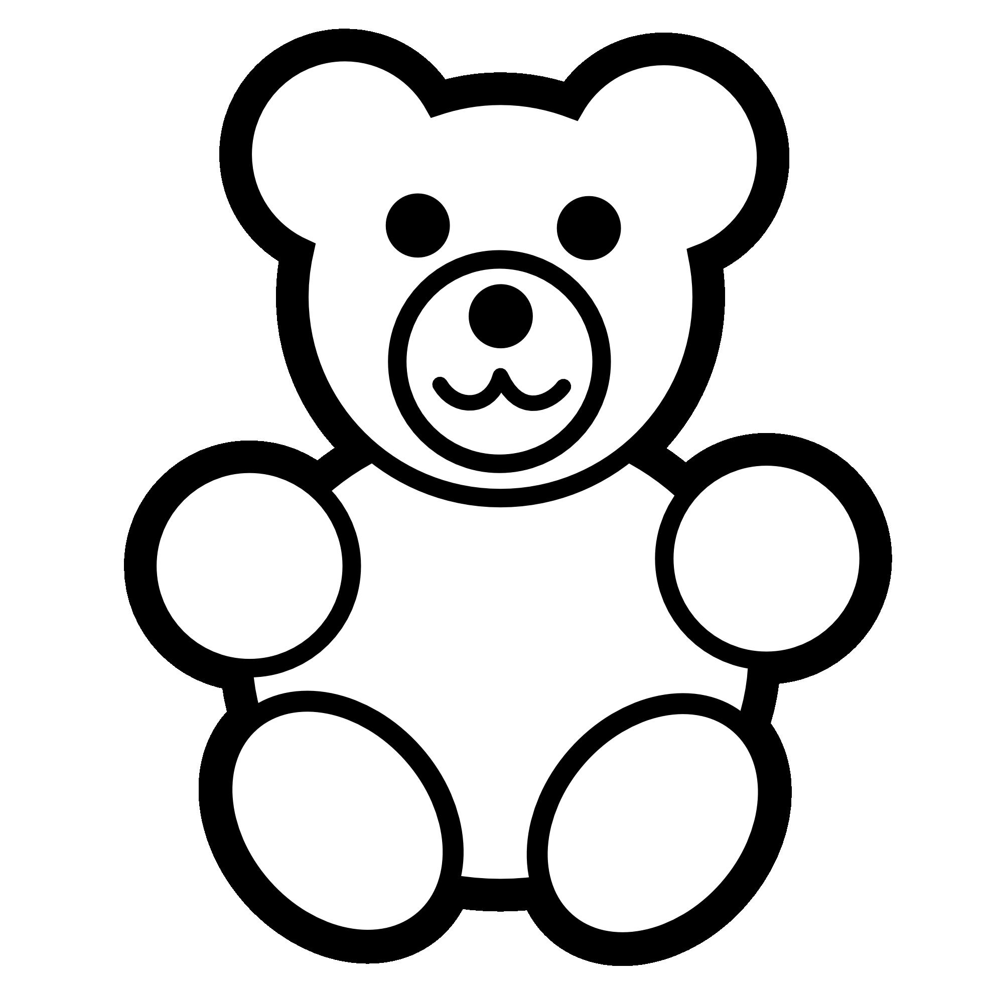 Pokemon clipart black and white. Teddy bear panda free