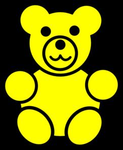 Bears clipart counting. Yellow bear clip art