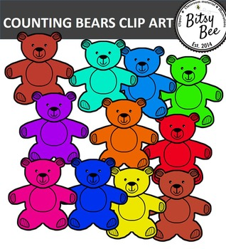 Teddy bear counters clip. Bears clipart counting