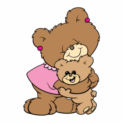 Pictures hugging cartoon drawing. Bears clipart cuddling