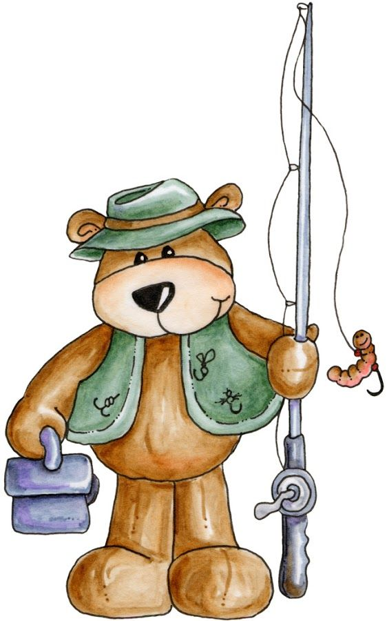Bears clipart fishing. Good pattern for a