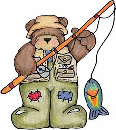 Bears clipart fishing.  fathers day printables