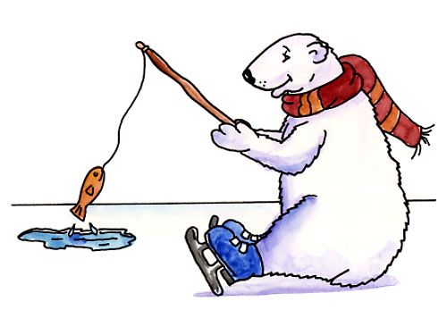 Bears clipart fishing.  best images on