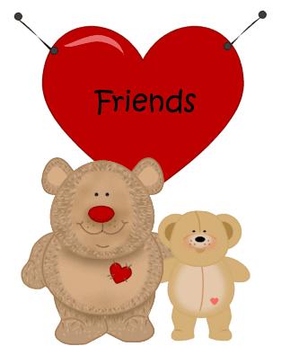 Friendship clip art image. Bears clipart friendly