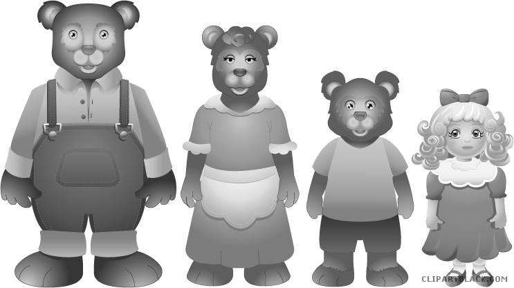 Bears clipart goldilocks. And the three clipartblack