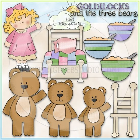 Bears clipart goldilocks. The three ne cheryl