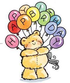 Bears clipart happy birthday.  feliz cumplea os